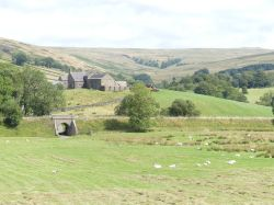 A VIEW OF ALSTON COUNTRYSIDE WHERE THE TYNEDALE RAILWAY RUNS IT'S NARROW GAUGE ENGINES