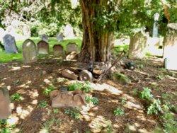 A LAWNMOWERS LAST RESTING PLACE,ST OSWALD CHURCHYARD,KIRKOSWALD,CUMBRIA.