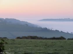 Morning mist in the valley near Bristol