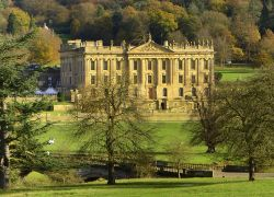 Chatsworth House in autumn