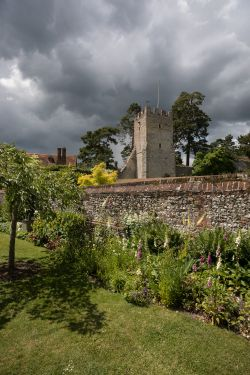 Storm clouds over the Great Tower at Greys Court