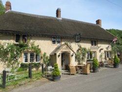 The Ilchester Arms pub in Symondsbury, Dorset