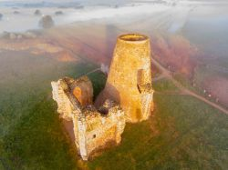 St Benets Abbey gatehouse at dawn