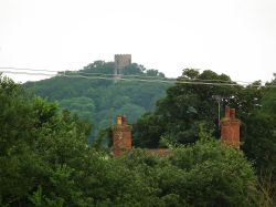Conygar Tower in the distance, near Minehead, Somerset