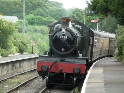 Steam Train, Blue Anchor Station, Somerset