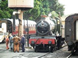 Trains at Minehead