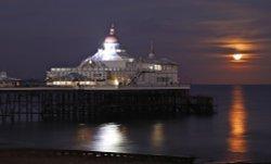 Moonrise over Eastbourne Pier