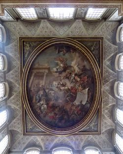 Ceiling of the entrance, Blenheim Palace, Woodstock, Oxfordshire