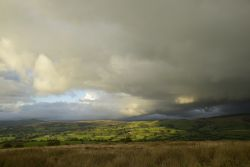 Rain Clouds to the North over Swythamley near Heaton, Staffordshire Moorlands