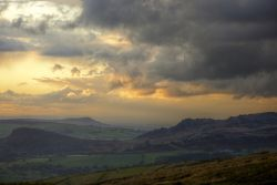 Rain Clouds over The Roaches near Upper Hulme, Staffordshire Moorlands