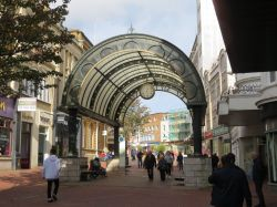 Outside the Arcade in Bournemouth