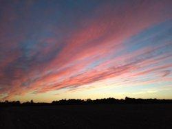 Sunset across Furze Platt fields, Maidenhead