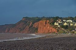 Budleigh's red cliffs