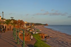 East view Budleigh sunset