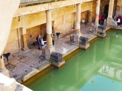 Roman Baths in Bath, detail