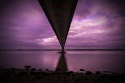 early morning humber bridge