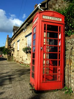 Iconic Red Telephone Box in Blisworth Village