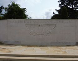 Cambridge American Cemetery entry