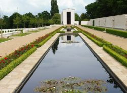 Pools at the Cambridge American Cemetery