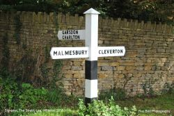 Signpost, The Street, Lea, Wiltshire 2019