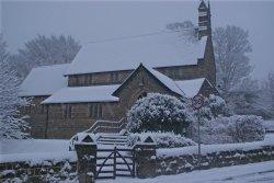 Bramhope Parish church, at Christmas