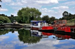 Boats on Sheffield and South Yorkshire  Canal, Sprotbrough