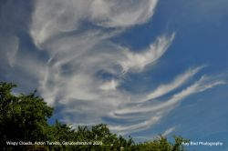 Wispy Clouds, Acton Turville, Gloucestershire 2020 Wallpaper