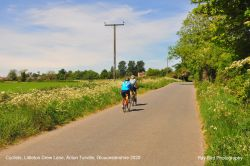 Cyclists, Littleton Drew Lane, Acton Turville, Gloucestershire 2020