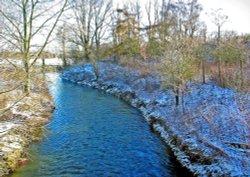 Kennington stream in winter
