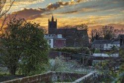 Church Sunset Wallpaper