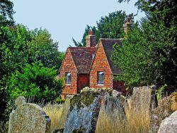 View from Pluckley churchyard