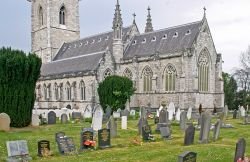 The Marble Church, Bodelwyddan - view from the churchyard