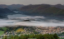 Looking down on Keswick from the top of Latrigg Fell