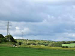 Pylons across the countryside, Cudworth