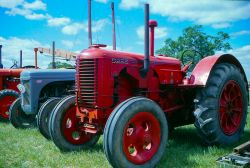 Display of old tractors at local agricultural show