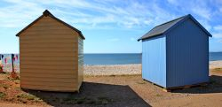 Budleigh beach huts in lockdown