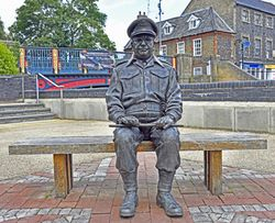 Statue of Captain Mainwaring (Arthur Lowe), Thetford