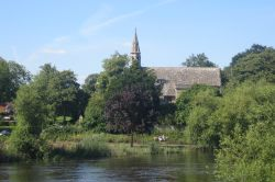 The River Thames at Clifton Hampden with St. Michael and All Angels Church in the background