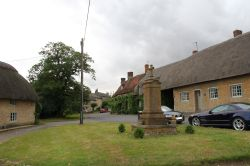 Main Street, Hethe, and the war memorial