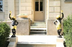 Statues at the door of the East Wing of Cliveden House