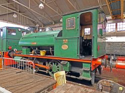 Locomotive 'Ajax' at Chatham Historic Dockyard