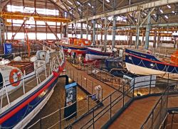 Lifeboat exhibition at Chatham Historic Dockyard