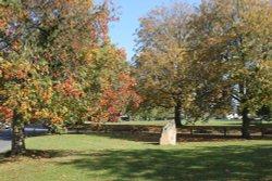 Kingham village green in the Autumn Wallpaper