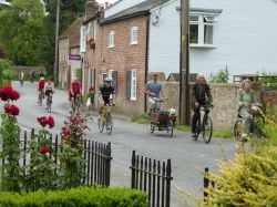 Cyclists in Ewelme