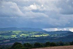 Looking towards Hay on Wye from near Eardisland.