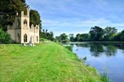 A Picnic by the Ruined Abbey in Painshill Park, Cobham, Surrey