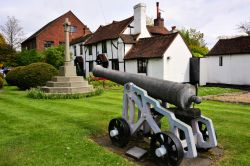 The Chobham Cannon, at the Northern End of the High Street