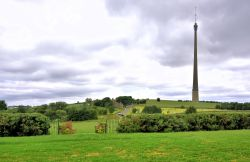 Emley Moor Mast viewed from the 3 Acres Inn