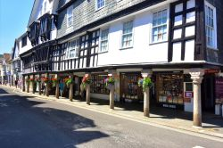 Old Tudor Style Shops by Dartmouth Harbour