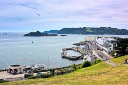 Tinside Pool & Grand Parade, with Drake's Island in the Middle of Plymouth Sound, Viewed from The Hoe